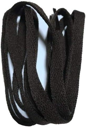 TMYQM ワイドスニーカースポーツシューズフラット靴ひも靴ひもの8ミリメートル24色80センチメートル/ 100センチメートル/ 120センチメートル/ 140センチメートル/ 160センチメートル (Color : No 24 dark brown, Size : 150cm)