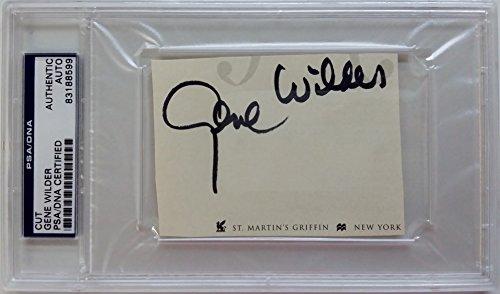 Gene Wilder Signed Cut Signature PSA/DNA Auto Autograph #83188599 Willy Wonka