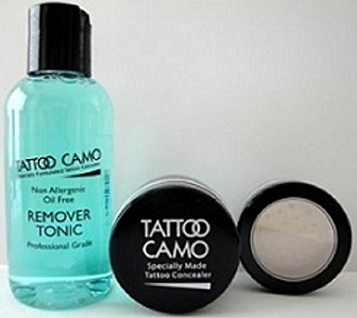 Tattoo Camouflage Cover Up Makeup Concealer Paste Single Kit w/Remover