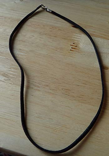 16'' Sterling Silver 3mm Wide Black Colored Suede Leather Choker Necklace