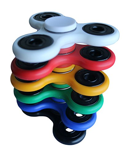 Youyougu Updated Design Fidget Spinner Novelty Toy Hand Finger Tops Black