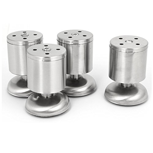 uxcell Furniture Sofa Tea Table Round Adjustable Cabinet Leg Feet 50mm x 80mm 4 Pcs by uxcell (Image #3)