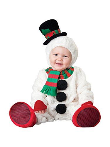 Snowman Toddler Costumes (InCharacter Costumes Baby's Silly Snowman Costume, White, X-Small)