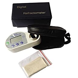 BDJK Hand Held Digital Refractometers For 28~65%Brix and Refractive Index Including AAA Battery