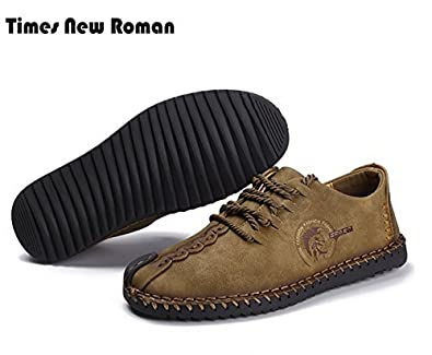 f63fad6a887f Times New Roman Men s Slip-On Loafers Casual Leather Shoes 7.5 US