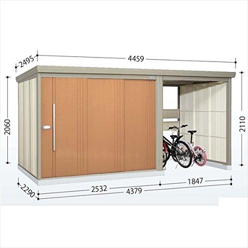 タクボ物置 TP/ストックマンプラスアルファ TP-43R22 一般型 標準屋根 『駐輪スペース付 屋外用 物置 自転車収納 におすすめ』 トロピカルオレンジ B00V5L1XLS