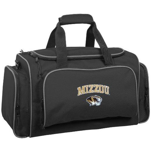 WallyBags Missouri Tigers 21 Inch Collegiate Duffel, Black, One Size