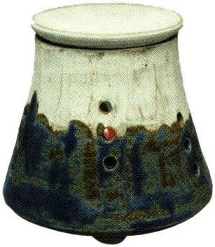 常滑焼・焜清 カ39-01 茶香炉 青富士 径10.5×9.5cm
