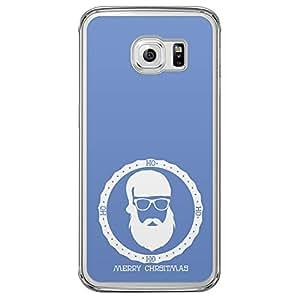 Loud Universe Samsung Galaxy S6 Edge Ho Merry Christmas 2014 Santa Badge Printed Transparent Edge Case - Blue