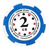 Dane-Elec Poker Mate 2GB USB 2.0 Flash Drive - Perfect Camouflage for Your Critical Data!