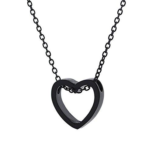 Softmusic Romantic Loving Heart Pattern Pendant Hollow Necklace Women Lovers Jewelry Gift