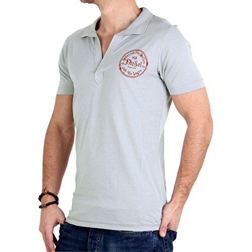 DIESEL Herren Poloshirt T-Creer Grey 03675 Größe S