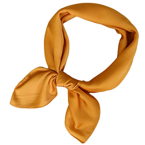 LMVERNA Square Satin Scarf Polka Dot Ribbon Scarves 27 By 27 Inch