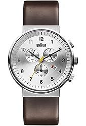 Braun Men's BN0035SLBRG Classic Chronograph Analog Display Japanese Quartz Brown Watch