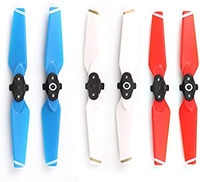 PENVIO Colour Propeller for Drone,2 Pair 4730 F 2CW Blue 2CCW Quick Release Folding Props Blade Propellers for DJI Spark Accessories