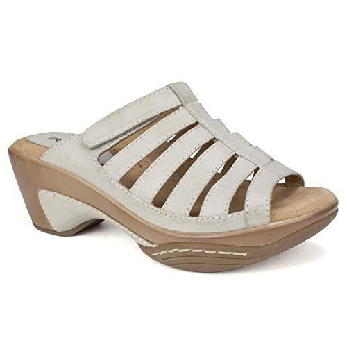 RIALTO Shoes Valencia Women's Sandal, ICE/Burn/Smooth, 6 M