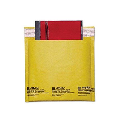 Kraft Bubble Mailers Cd (Sealed Air Jiffylite Brown Kraft CD Disc Air Bubble Mailers, 25 Pack (44169))