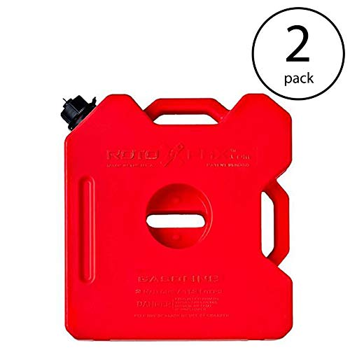(RotopaX Durable Leakproof 3 Gallon EPA Safe Gasoline Container, Red (2 Pack))