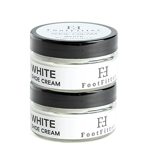 FootFitter Premium Shoe Cream Polish 2 Pack! Shoe and Boot Shine Cream! (White)