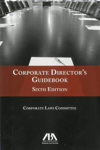 Pdf Law Corporate Director's Guidebook
