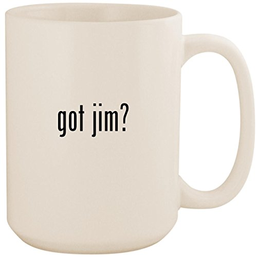 got jim? - White 15oz Ceramic Coffee Mug Cup