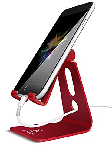 Adjustable Cell Phone Stand, Lamicall iPhone Stand : [UPDATE VERSION] Cradle, Dock, Holder For Switch, iPhone 8 X 7 6 6s Plus 5 5s 5c charging, Accessories Desk, all Android Smartphone - (Dock Plus For Iphone 6)