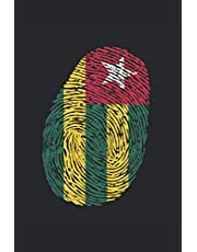 Notizbuch: Blanko Notizheft mit Togo Fingerprint Cover  120 linierte Seiten   Softcover   A5 Format   perfekt für Notizen, Texte, Aufzeichnungen etc.