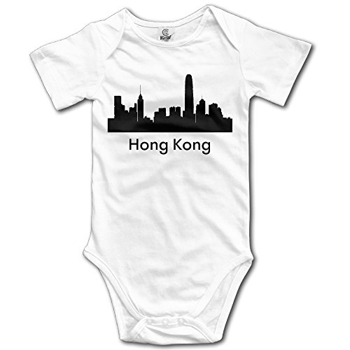 Baby Bodysuit Hong Kong City Skylines Silhouettes Hot Cool Baby Onesie Jumpsuit