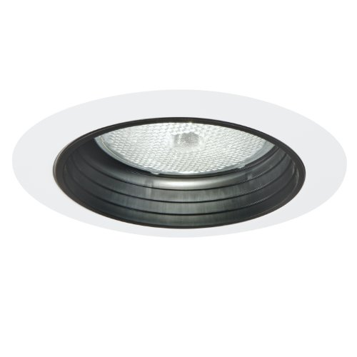 White Trims 5 Inch (Halo Recessed 5010 Trim with Black Baffle, White)