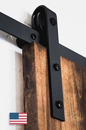 American Made - 6.6Ft Classic Sliding Barn Door Hardware - Black