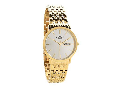 f95f8504e454 Rotary Mens GBI0262403DD Windsor Gold Plated Bracelet Wristwatch   Amazon.co.uk  Watches