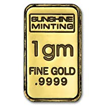 (1 gm) .999 Fine Gold Bar - (No Assay Card)