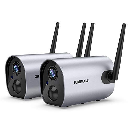 Zumimall Outdoor Security Camera, 1080P Wireless WiFi Surveillance Waterproof Camera, IR Night Vision, Two Way Audio…