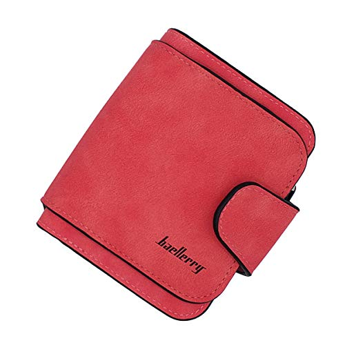 Laynos Wallet for Women Leather Clutch Purse Small Ladies Credit Card Holder Organizer Travel Purse Red WL8017