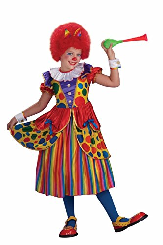 Striped Costumes Tall And Big (Forum Novelties Little Designer Collection Clown Princess Child Costume,)