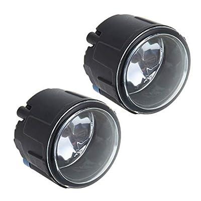 Pair Fog Light For Nissan Cube Juke Quest Murano Rogue Versa For Infiniti FX EX QX M G Q Glass Lens Lamps with Halogen Bulbs: Automotive