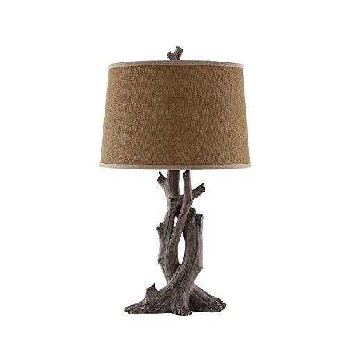 Stein World Furniture Cusworth Table Lamp, Antique Wood (Furniture Wood Stein)