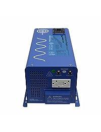 AIMS Power   Cargador inversor de potencia de onda senoidal pura, 2000 vatios, 48 VCC, con pico de carga de 6000 W