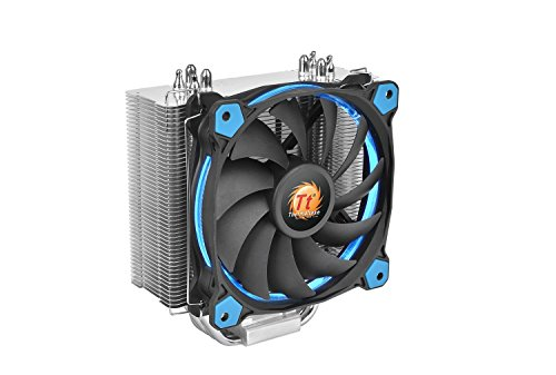 Thermaltake Riing Silent 12 Blue CPU Cooler - 1 x 120 mm - 1