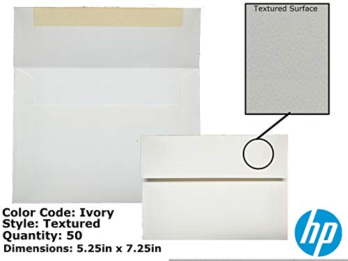 Premium A7 Traditional Adhesive Textured Invitation Envelopes (5.25