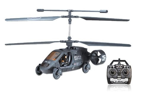 Sky Car Large Remote Control RC Military Army Helicopter Gyro 5.5 Channel - Drive on the Floor or Fly in the Air! (Rc Army Helicopter Large)