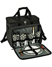 Picnic at Ascot Original Insulated Picnic Cooler with Service for 4 -Designed & Assembled in The USA