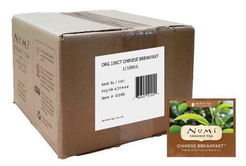 Numi Organic Tea, Chinese Breakfast, Full Leaf Black Tea, 100 Count Bulk non-GMO Tea (Leaf Home Fragrance Mist)