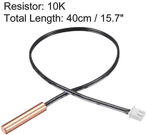 uxcell 200K NTC Thermistor Probe 7.9 Inch Stainless Steel Sensitive Temperature Temp Sensor for Air Conditioner