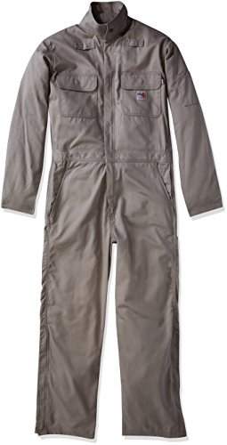 - Carhartt Men's Big and Tall Big & Tall Flame Resistant Deluxe Coverall, Gray, 4X-Large