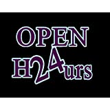 Porta-Trace Decorative LED Lit Sign with Open 24 Hours Logo, 14-Inch