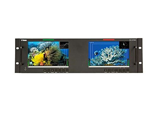 - Wohler RM-3270WS-3G 3RU Dual 7-Inch Widescreen LCD Rackmount Video Monitor 3G-SDI with Embedded Audio