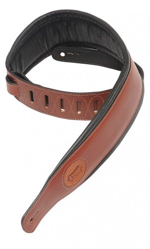 Levy's Leathers MSS1-WAL Veg Tan Leather Guitar Strap,Walnut