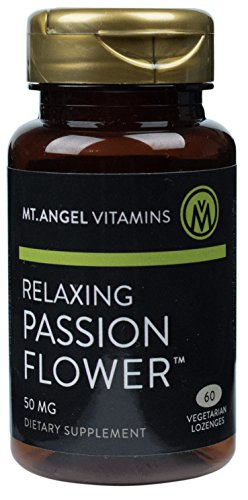 Mt. Angel Vitamins - Relaxing Passion Flower Lozenges, Promotes Relaxation, 60 Vegetarian Lozenges (35 Lozenges)