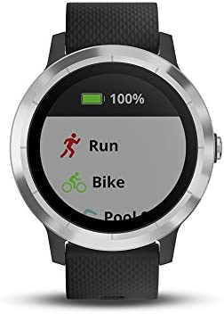 Garmin Vivoactive 3 GPS Smartwatch with Built-in Sports Apps - Black/Silver (Renewed) 3